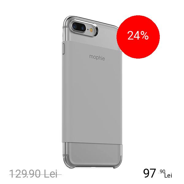 Mophie Husa Capac Spate Base Case Ultra Thin Gri Apple iPhone 7 Plus, iPhone 8 Plus