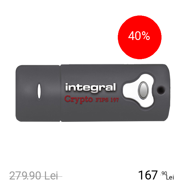 Integral Stick USB 16GB Crypto USB 3.0 Gri
