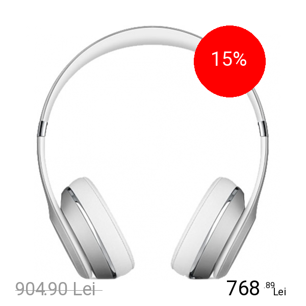 Beats Casti Wireless Solo 3 On Ear Argintiu