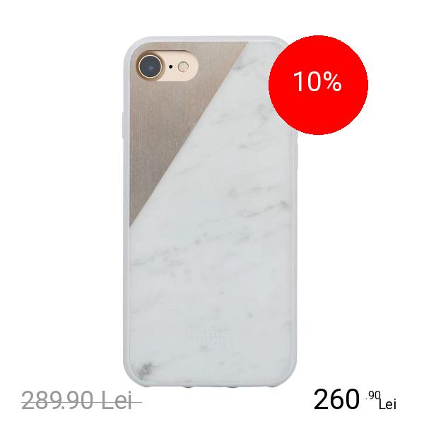 NATIVE UNION Husa Capac spate Marble Alb Apple iPhone 7, iPhone 8