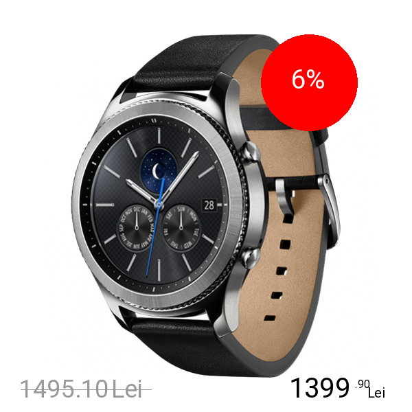 Samsung Smartwatch Gear S3 Classic Piele Argintiu