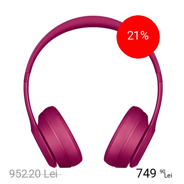 Beats Casti Wireless Solo 3 On Ear Rosu