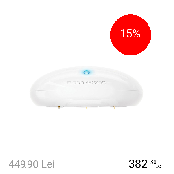 FIBARO Senzor Temperatura Si Scurgeri Apa Apple HomeKit