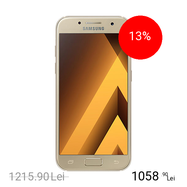 Samsung Galaxy A3 2017 Dual Sim 16GB LTE 4G Auriu