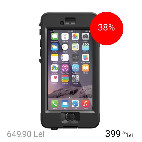 LIFEPROOF Husa Capac Spate Nuud Negru APPLE iPhone 6 Plus, iPhone 6s Plus
