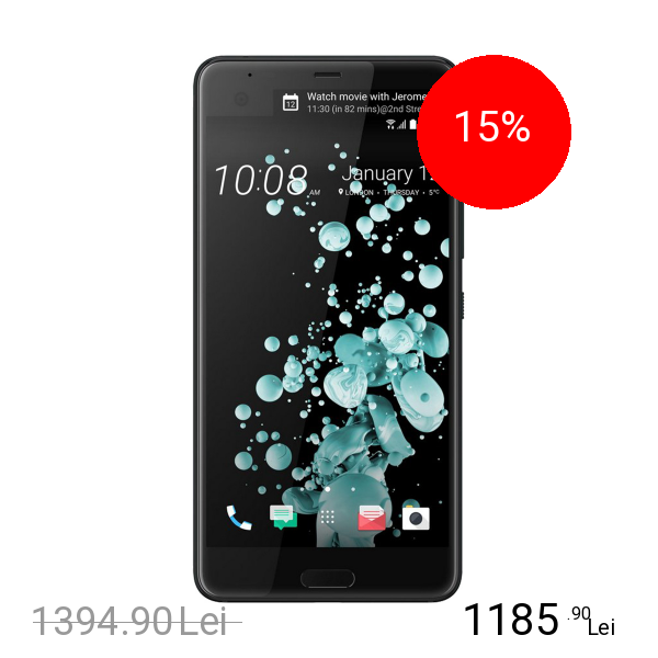 Htc U Ultra Dual Sim 64GB LTE 4G Negru 4GB RAM
