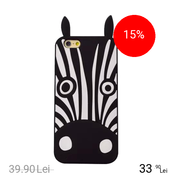 STAR Husa Capac Spate Zebra Negru APPLE iPhone 6, iPhone 6S