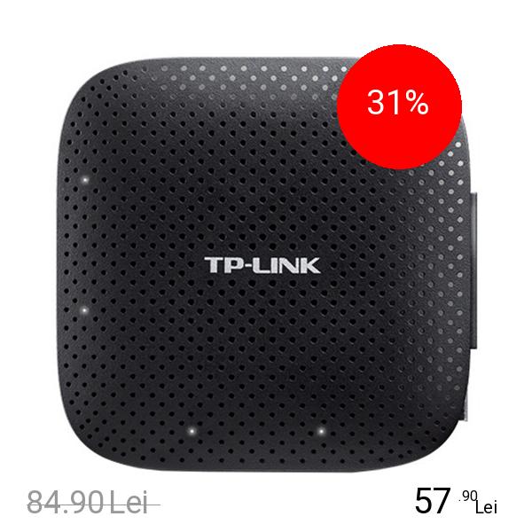 TP-LINK Hub Portabil cu 4 porturi USB 3.0 Negru