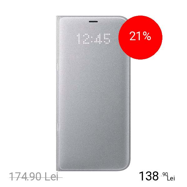 Samsung Husa Agenda Led View Argintiu SAMSUNG Galaxy S8