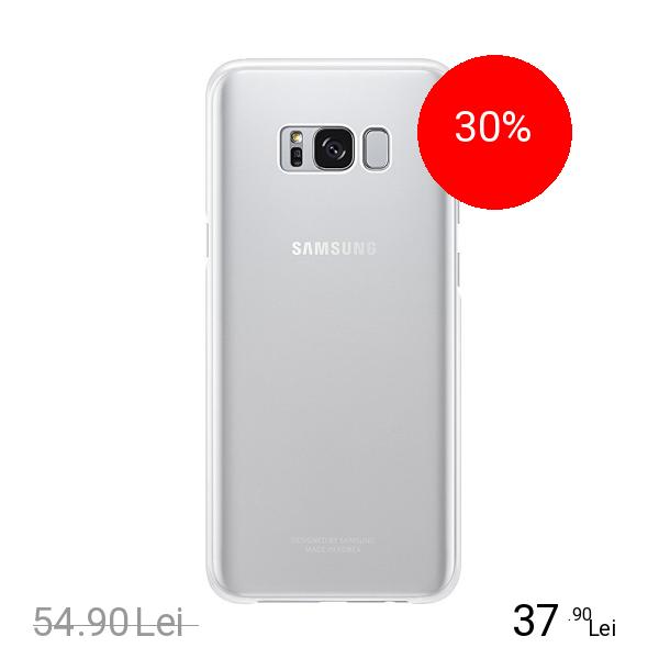 Samsung Husa Capac spate Clear Cover Argintiu SAMSUNG Galaxy S8