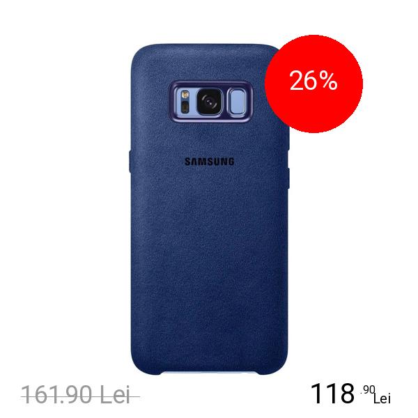 Samsung Husa Capac spate Alcantara Albastru SAMSUNG Galaxy S8
