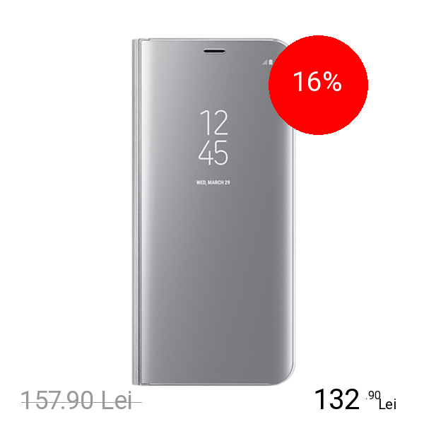 Samsung Husa Agenda Clear View Argintiu SAMSUNG Galaxy S8 Plus