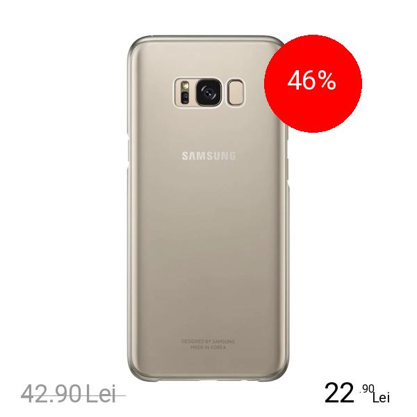Samsung Husa Capac Spate Clear Cover Auriu SAMSUNG Galaxy S8 Plus