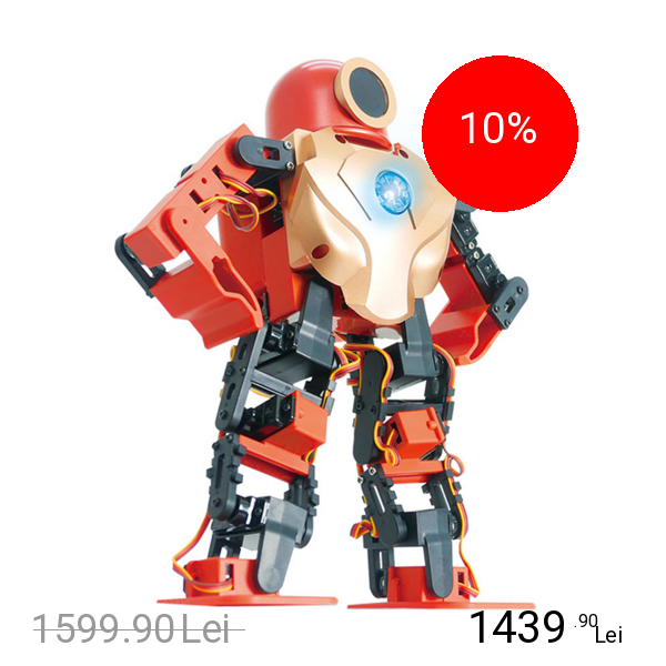 TT ROBOTIX Robot Inteligent Interactiv Robo Hero Rosu
