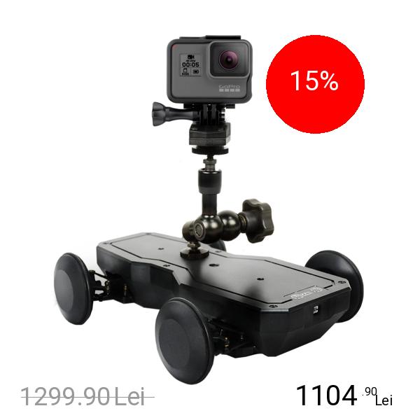 TT ROBOTIX Suport Motorizat Pentru Camere Video + Maneta Control Negru