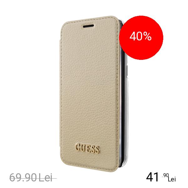 Guess Husa Agenda Auriu SAMSUNG Galaxy S8 Plus