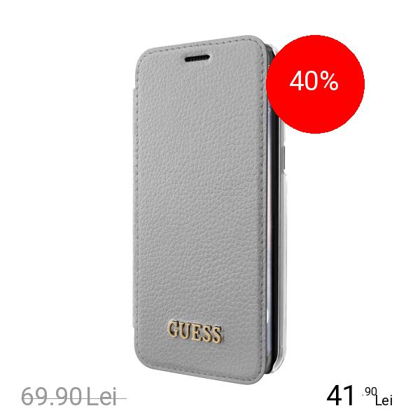 Guess Husa Agenda Argintiu SAMSUNG Galaxy S8 Plus