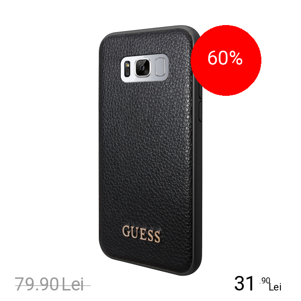 Guess Husa Capac Spate Negru SAMSUNG Galaxy S8 Plus title=Guess Husa Capac Spate Negru SAMSUNG Galaxy S8 Plus