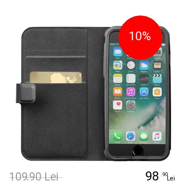 Cellularline Husa Agenda Top Secret Negru APPLE iPhone 6, iPhone 6S
