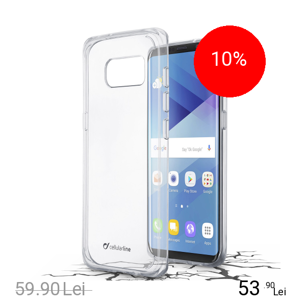Cellularline Husa Capac Spate Transparent SAMSUNG Galaxy S8