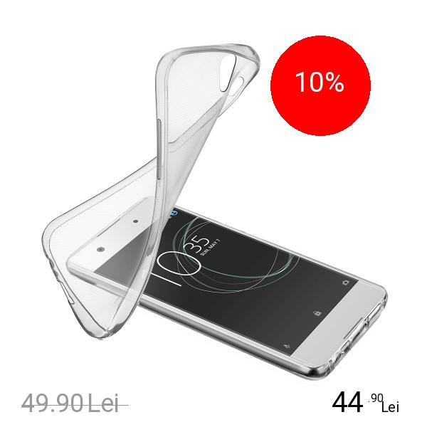Cellularline Husa Capac Spate Soft Transparent SONY Xperia XA1