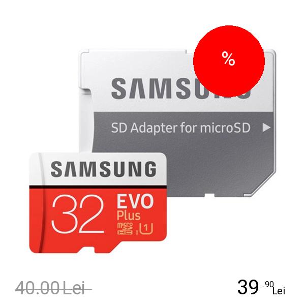 Samsung Card Memorie Cu Cititor Card 32 GB Evo Plus