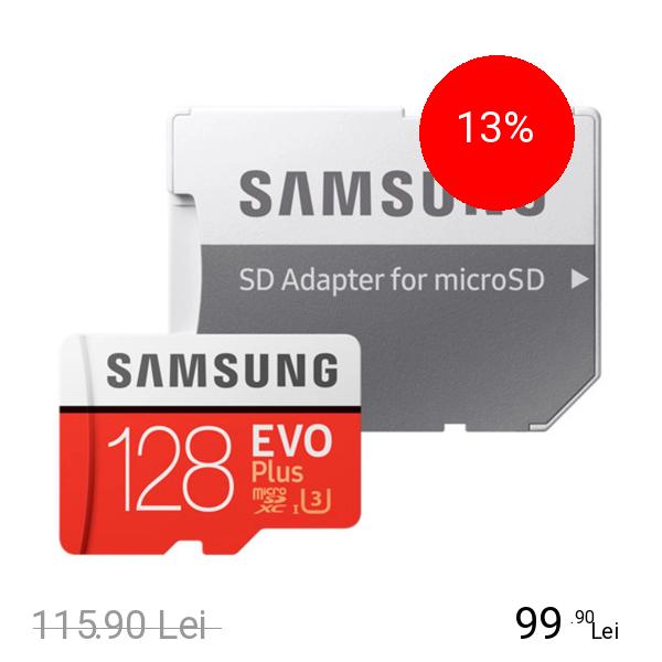 Samsung Card Memorie Cu Adaptor 128 GB Evo Plus
