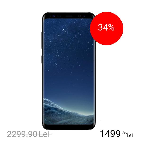 Samsung Galaxy S8 Dual Sim 64GB LTE 4G Negru 4GB RAM