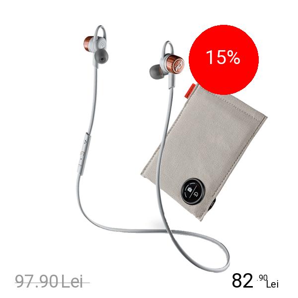 Plantronics Casti Wireless Backbeat Go 3 + Husa De Incarcare Portocaliu