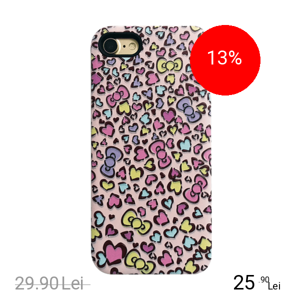 STAR Husa Capac Spate Hearts Roz APPLE iPhone 6, iPhone 6S