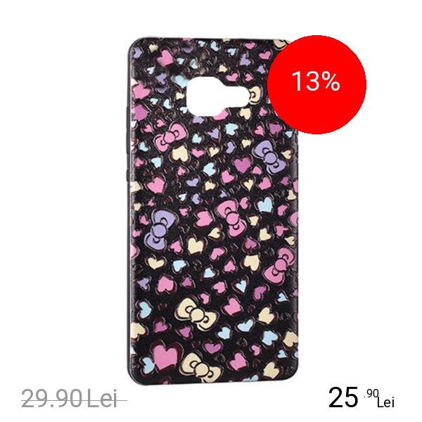 STAR Husa Capac Spate Hearts Negru SAMSUNG Galaxy A3 2017