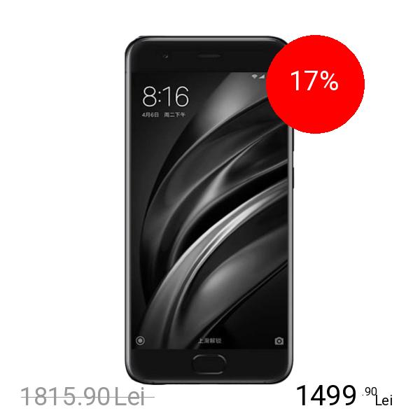 Xiaomi Mi 6 Dual Sim 64GB LTE 4G Negru 6GB RAM
