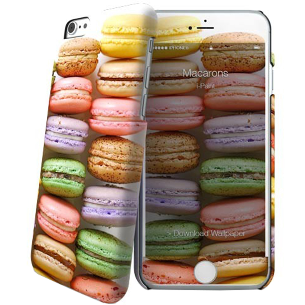 I-PAINT Husa Capac Spate Macarons 600513 Multicolor APPLE iPhone 6, iPhone 6S