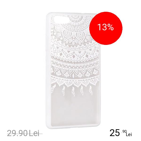 STAR Husa Capac Spate Lace Design 1 Alb Samsung Galaxy S7