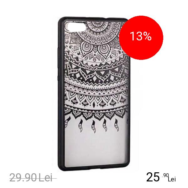 STAR Husa Capac Spate Lace Design 1 Negru HUAWEI P8 Lite 2017, P9 LITE 2017