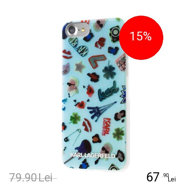Karl Lagerfeld Husa Capac Spate Albastru Apple iPhone 7, iPhone 8