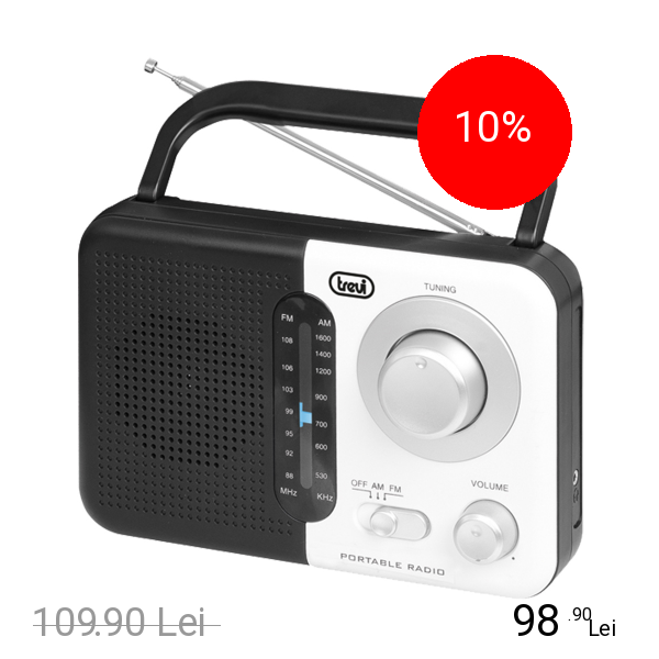 TREVI Radio Portabil Dual Band Alb