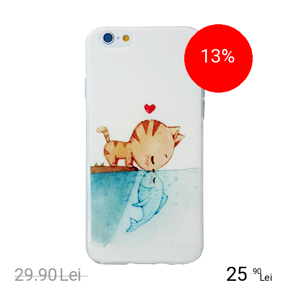 STAR Husa Capac Spate Fish And Cat Apple iPhone 7, iPhone 8