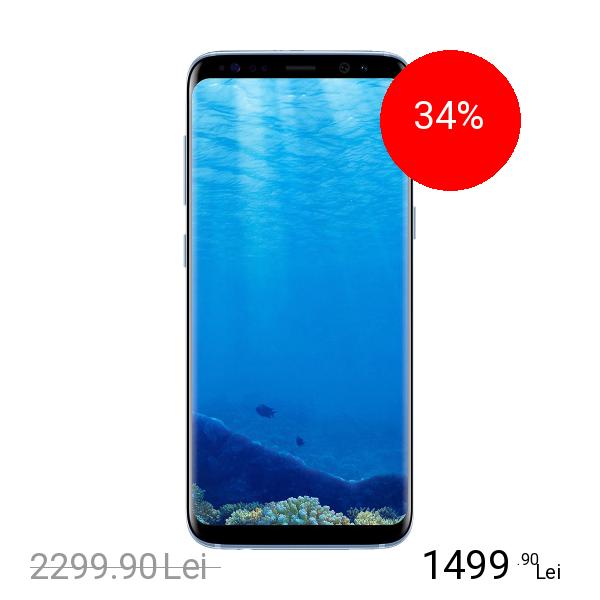 Samsung Galaxy S8 Dual Sim 64GB LTE 4G Albastru 4GB RAM