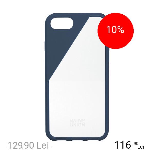 NATIVE UNION Husa Capac Spate Clic Crystal Albastru Apple iPhone 7 Plus, iPhone 8 Plus