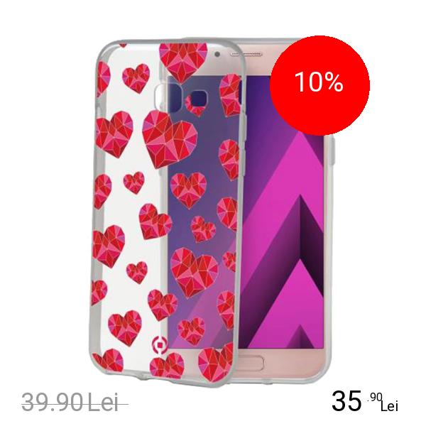 Celly Husa Capac Spate Hearts SAMSUNG Galaxy A3 2017