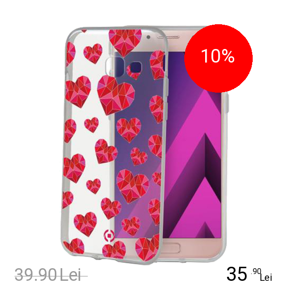 Celly Husa Capac Spate Hearts SAMSUNG Galaxy A5 2017