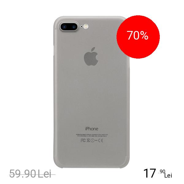 ZMEURINO Husa Capac Spate Slim Alb Apple iPhone 7 Plus, iPhone 8 Plus