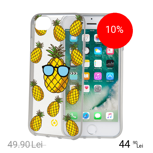 Celly Husa Capac Spate Pineapple Apple iPhone 7, iPhone 8