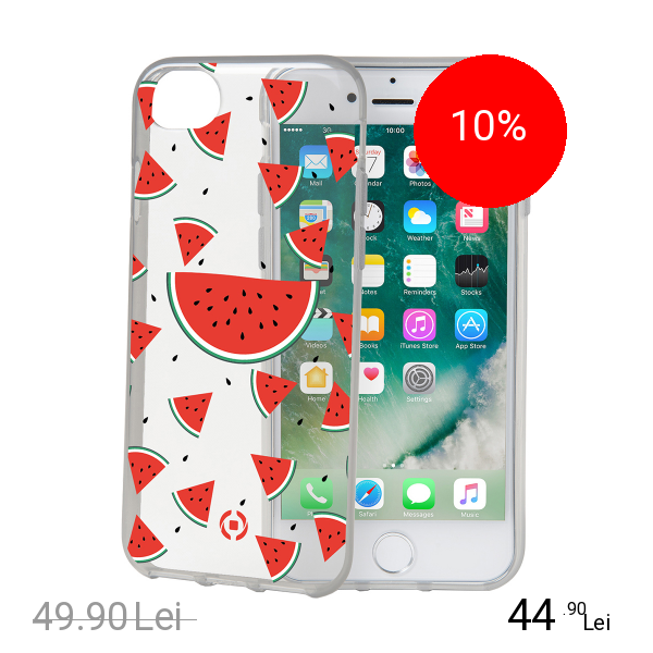 Celly Husa Capac Spate Watermellon Apple iPhone 7, iPhone 8