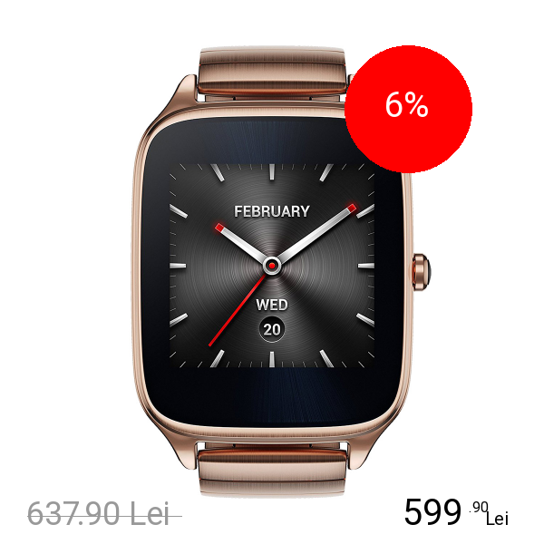 Asus Smartwatch ZenWatch 2 Curea Metal Auriu
