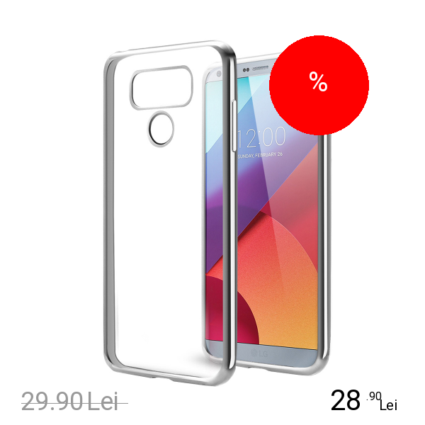 STAR Husa Capac Spate Clear Argintiu LG G6
