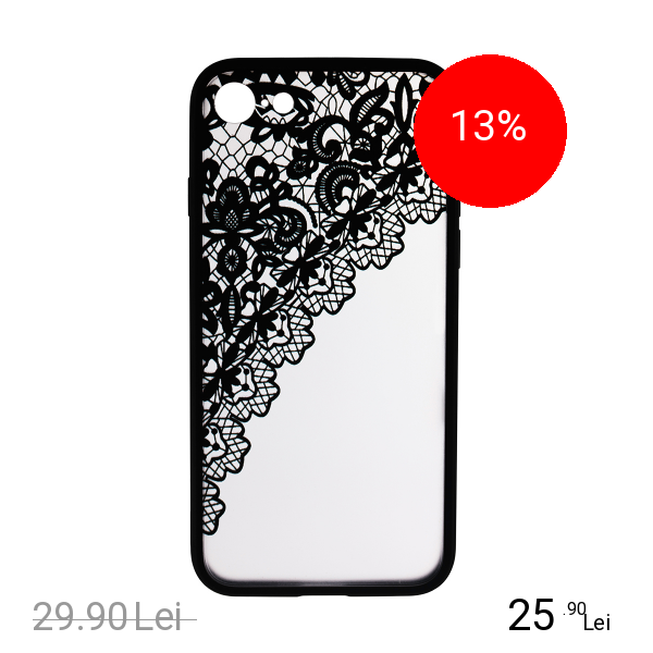 STAR Husa Capac Spate Lace Design 2 Negru Apple iPhone 7, iPhone 8