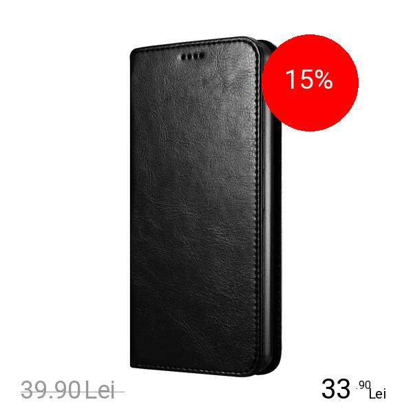 STAR Husa Agenda Piele Negru LG G6