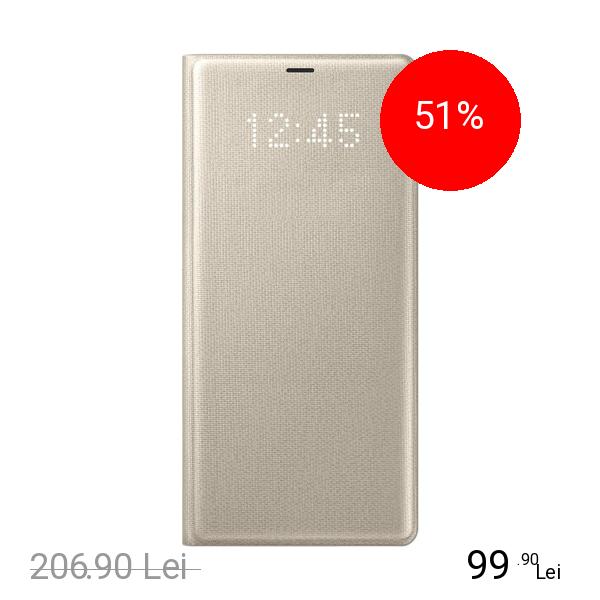 Samsung Husa Agenda Led View Auriu SAMSUNG Galaxy Note 8